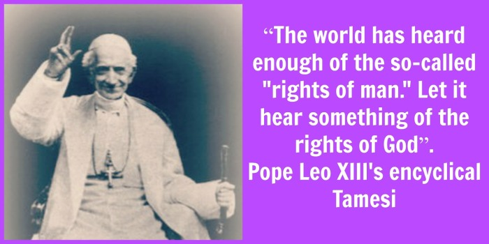 Pope Leo XIII Rights of God